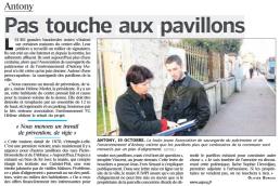 Pas touche aux pavillons Antony - article le Parisien